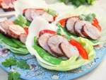 Thai-style grilled pork lettuce wraps