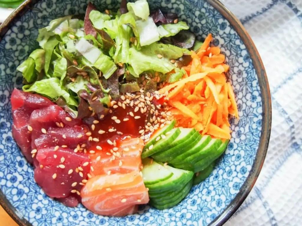 Korean sashimi rice bowl (hoedeopbap) #FishFridayFoodies
