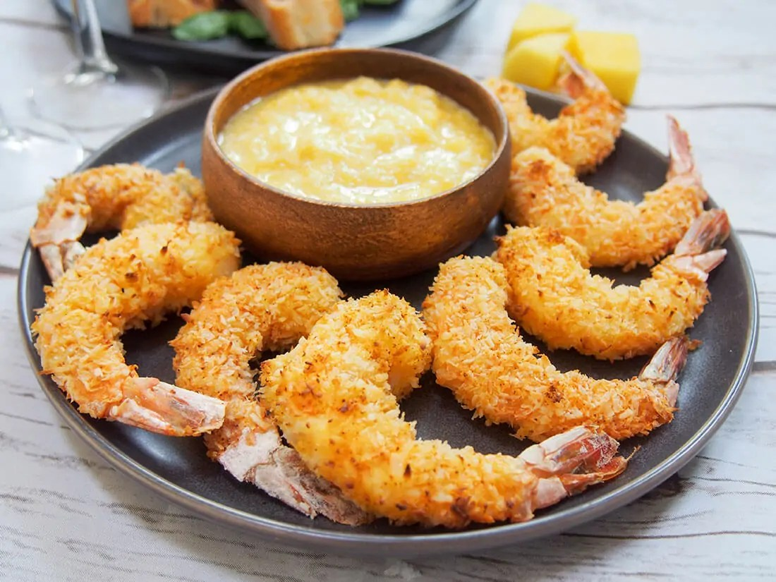 baked coconut shrimp with