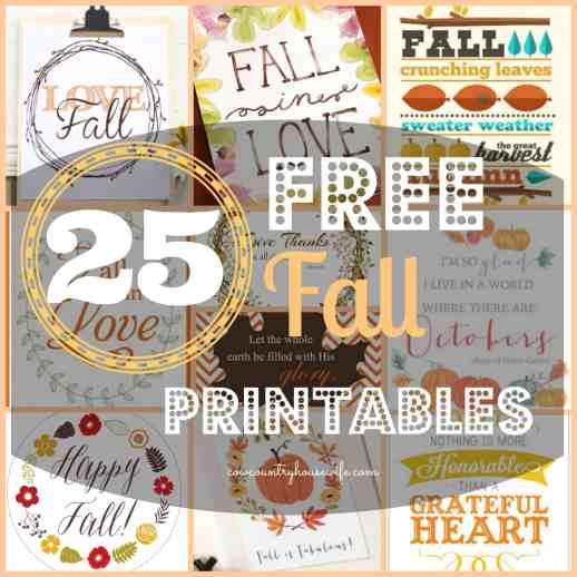 25 Free Fall Printables