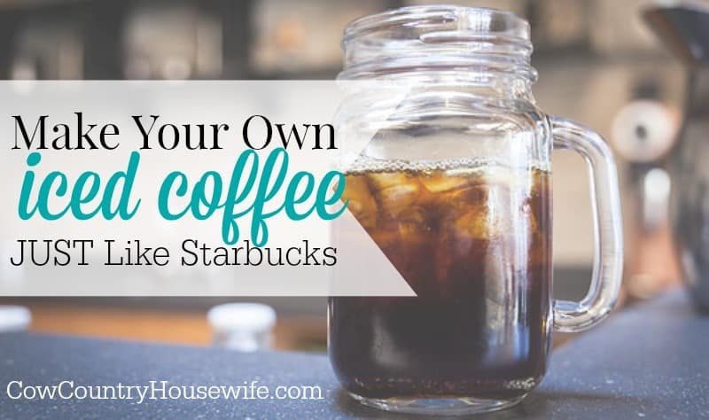 Make Your Own Iced Coffee Just Like Starbucks. Love Starbucks coffee but hate the price tag? Make your own iced coffee JUST like they do and save money without sacrificing quality! Tips from an ex-barista!