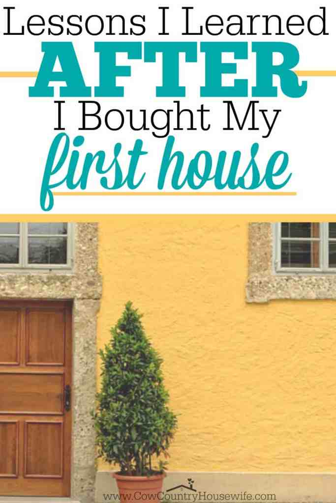I can't believe I didn't think of these before I bought my house! Learn from someone else's mistakes so that you don't have to make them!