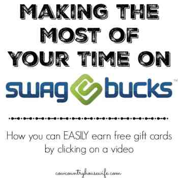 Have you tried Swagbucks? You need to! I make Between $25 and $50 a month just watching videos! Plus, find out how to get 100 FREE Swagbucks!