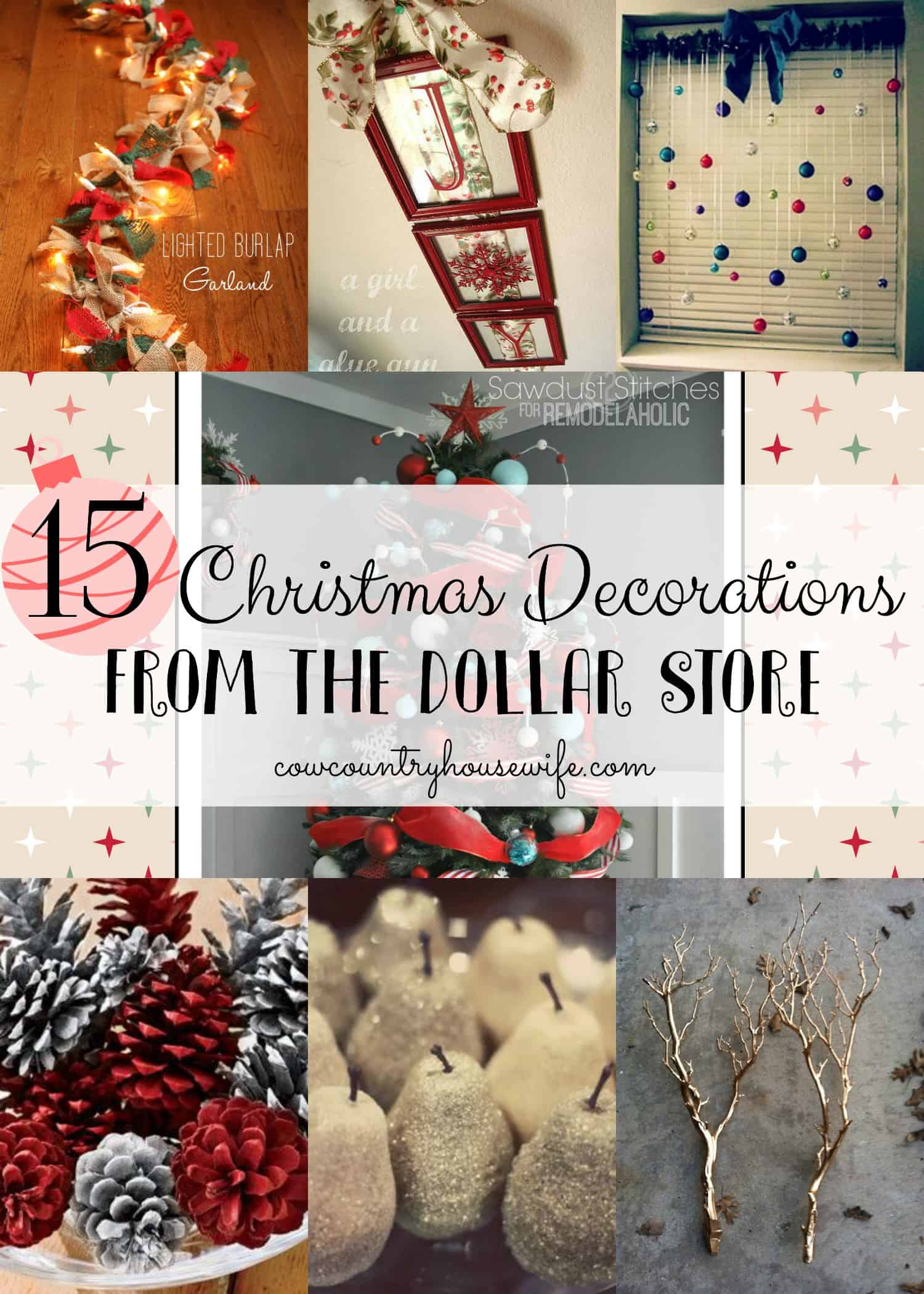 15 christmas decorations from the dollar store - 99 Cent Store Christmas Decorations