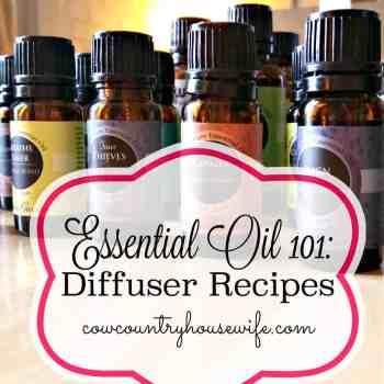 Essential Oil 101 Diffuser Recipes