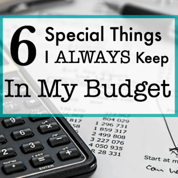 6 Special Things I Always Keep In My Budget - Cow County Housewife - You can't predict the future, but you can make sure that you save up for it.