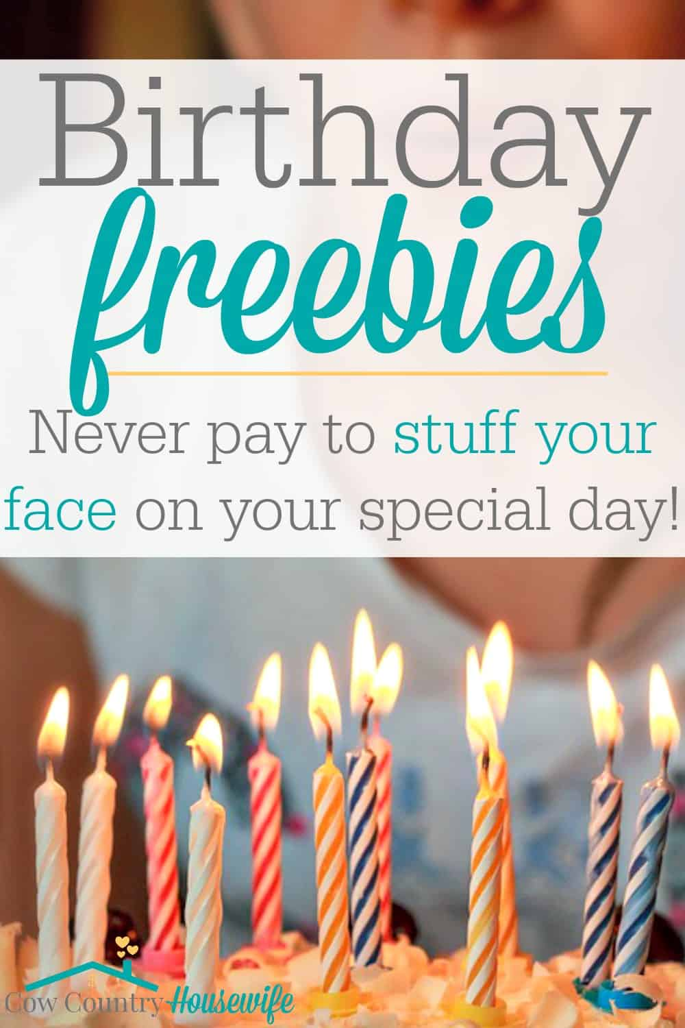 Never pay to stuff your face on your birthday ever again! No matter what type of food you're craving on your special day, there's a deal for you! I'm so sad that I missed some of these for MY birthday!