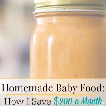 Save $200 a month by making your own baby food! Save money AND know exactly what's in my baby's food? That sounds amazing, right?! It's easier than you think AND it'll save you tons of money!