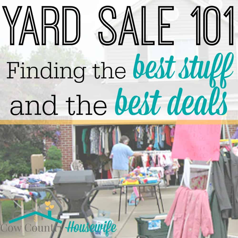 8d6726d08c1 Yard Sale 101: Finding the Best Stuff and the Best Deals