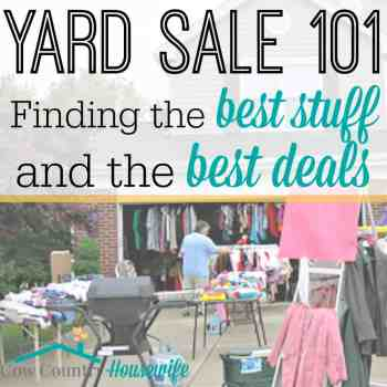 Yard Sale 101: Finding the Best Stuff and the Best Deals