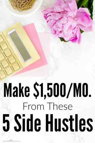 She makes more than $1,500 a month just from side hustles! I can't wait to give these a try for myself. I'm a mom, so I need flexibility. I love reading this from another mom who knows how to make it all work! I really want to start using these NOW! Side hustle ideas. Side hustle passive income. Make money at home. Make money online fast. Side hustles for moms.