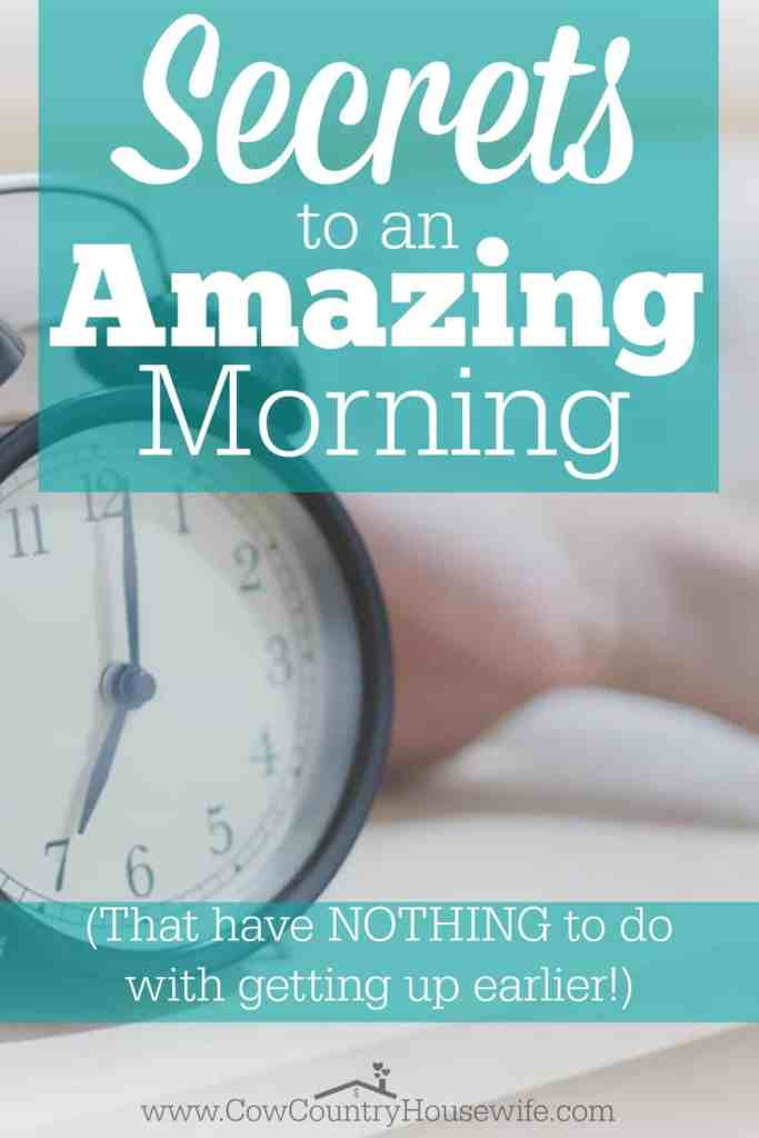 Want to know the SECRET to having an amazing morning? It doesn't matter what time you get up, 4am or noon, this could really change your WHOLE day!