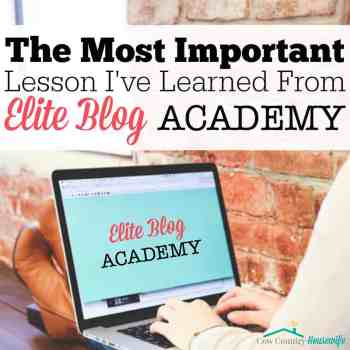 The Most Important Lesson I've Learned fromElite Blog Academy