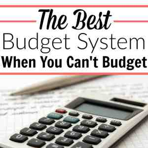 The Best Budget System When You Can't Budget