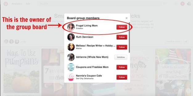 This is the owner of the group board