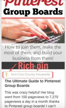 Rich pin example