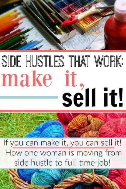 If you can make it, you can sell it! She's passed a side hustle, and is about to make a full-time income from selling cards!! It's completely possible!