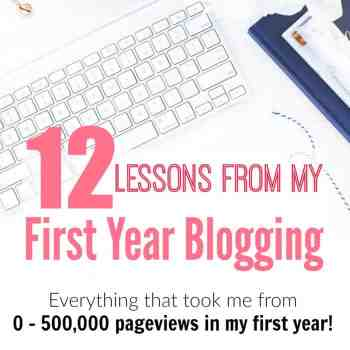 Everything I Learned in My First Year Blogging