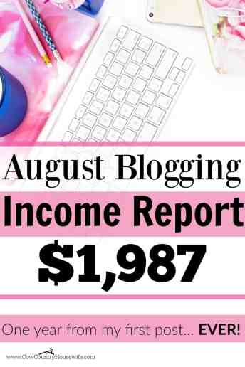She made $1,987 in one month blogging. And she only started blogging 1 year ago! August Blogging Income Report $1,987