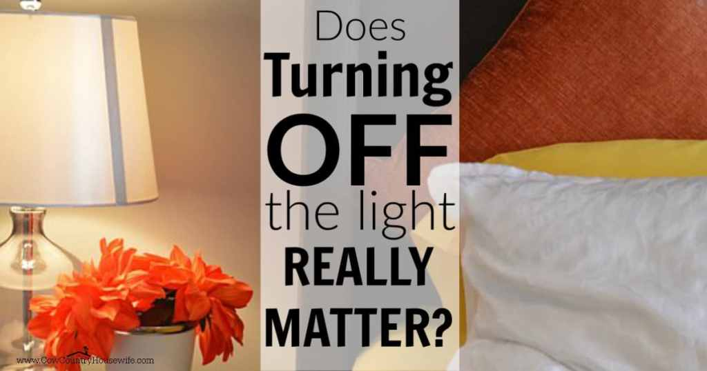 What difference does it make to your electric bill if you turn off that light? Does turning off a light save money? Other ways to save money that you might not even think of.
