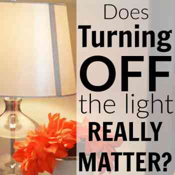 Does Turning Off the Light Really Matter?