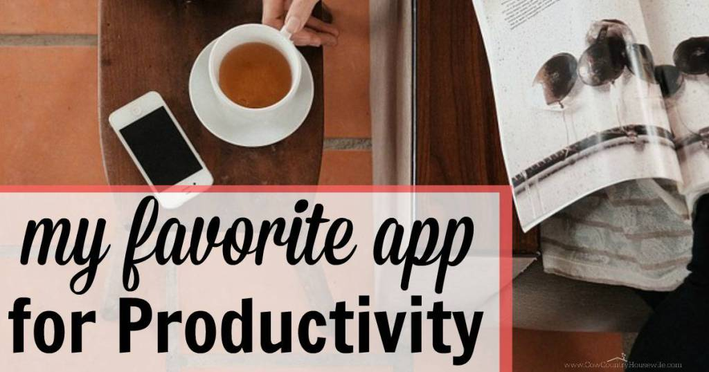 My Favorite App for Productivity that helps me stay on track and get everything done as a busy mom of 3!