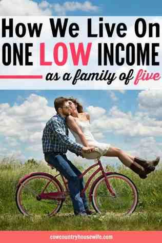 How to live on one income. This family of five lives on one low income and still manages to save money and live frugally. Frugal living is easier when you have a goal. Save money, live fully. How to live on one low income. This is so inspirational! She shares how her family of 4 lived off of $17,000 each year! Easy ways to save more money. Learn how to save money. How to save on a low income. How to live on a ow income. How to live well on any income. How to live well on a low income. Personal finance tips for a low income. How can a family of four live well on $17,000/year? It's possible and no matter how much income you earn, you can learn a few things that will help you get control of your money. How We Lived Well on $17,000 as a Family of Four. how to live on one income and save money. How to live on one income tips. How to live on one income without debt. How to live on one income and stay out of debt. How to live on one income budget. How to live on one income families. Living on one income tips. Living on one income and save money. Living on one income Dave Ramsey. One income family. One income budget. One income living. One income family budget. One income family budget tips.