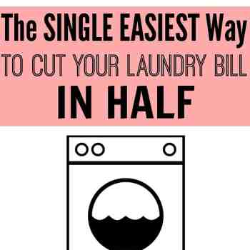 Looking for a quick and easy way to save money doing the laundry? Give this a try! Just by changing one thing, you can save a lot of money. This is a frugal tip that I can't wait to try! Cut your laundry bill in half easily!