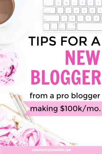 Looking for the best tips for a new blogger? How about some tips right from a pro blogger who makes $100,000 per month! These are amazing tips! I wish I knew these tips for a new blogger when I first started. Everything from the best ways to make money to the best ways to make friends, this will help get you on the right track to making a full-time income blogging for yourself in no time at all.