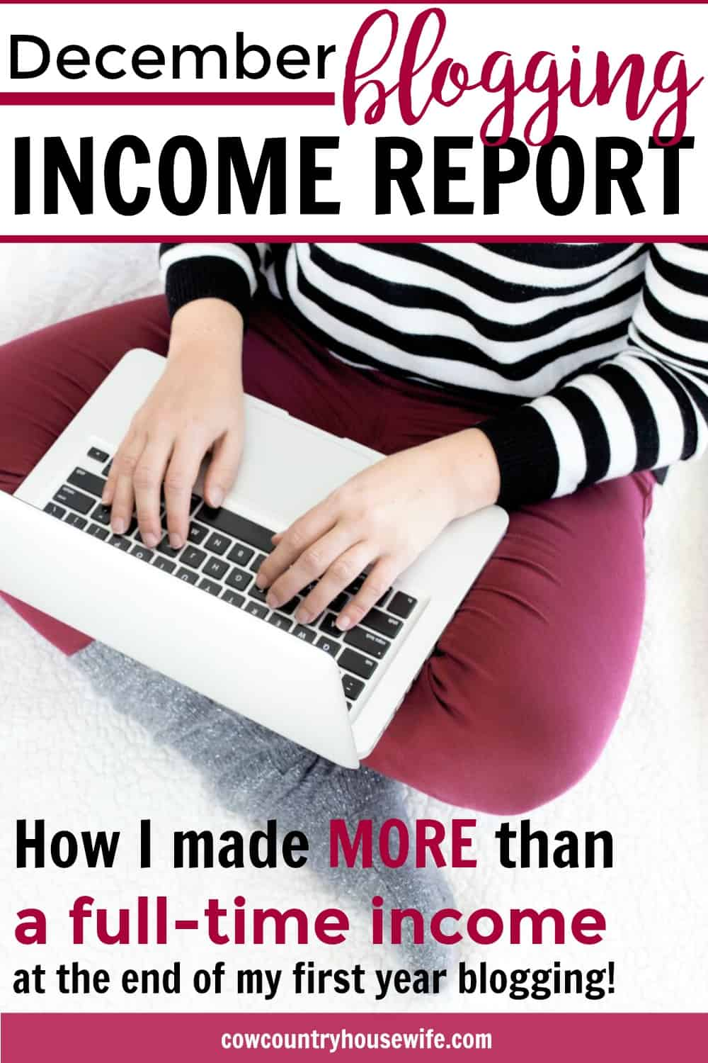 I love her blogging income reports! She shows you everything that she uses step-by-step to make money blogging. I've been following her blog income reports since the beginning and it's amazing how much her blog has grown so quickly! She even made more money than her full-time work husband in her December blogging income report. If you want to make money blogging, you need to read this!