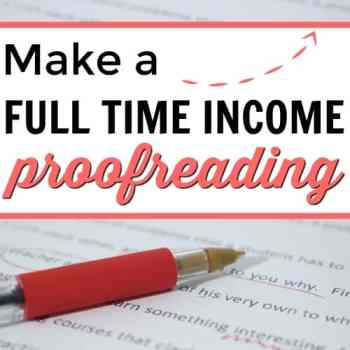 Make a Full Time Income Proofreading