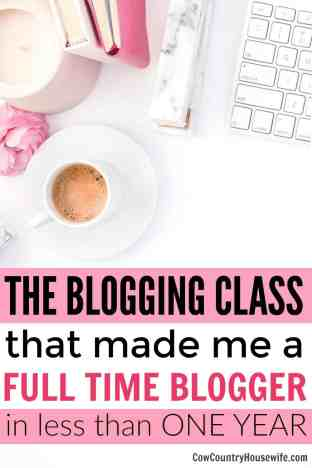 Thanks to ONE blogging class, she made $20,000 in her first year blogging full-time! If you want to make money blogging, this is the class you need to take. The best class to learn how to blog. The Blogging Class that Made Me a Full Time Blogger. The best premium blogging class.