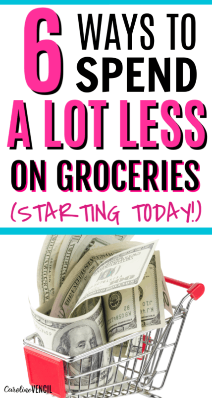 How to save money grocery shopping on a budget when you need to save money and live frugally. Awesome tips and tricks for big families and small families. These small tips to save big on food are quick and easy. I always stay on budget for my groceries list thanks to these tips tricks and ideas.