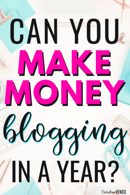 Can You Make Money Blogging in A Year? Can you really work from home and make a full time income blogging and writing on Pinterest? If you've ever wanted to stay at home with your kids and make money at home, this is perfect for moms who want to start a blog for extra money. It's the fast way to make money blogging as a new blogger!
