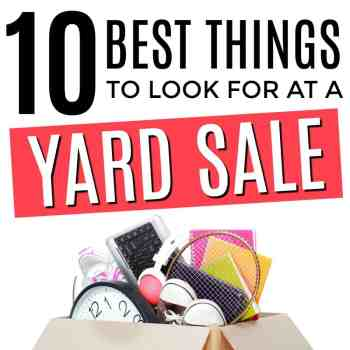 The BEST Things To Look For at a Yard Sale