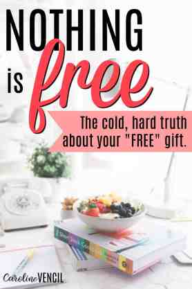This is great! Nothing is ever free. It's so important to remember that when you're trying to save money, you need to keep in mind long term expenses. The Real Cost of FREE Things. How to plan for long term expenses. Can you afford a free gift that comes with long term expenses? Nothing is really free.