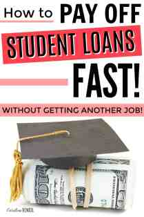 This is great! No matter how much money you make these are easy ways to pay off your student loans faster. Get out of student loan debt on any budget. Get out of student loan debt on a budget. How to budget to get out of debt faster. Reorganizing Your Budget to Make Student Loan Debt a Priority.