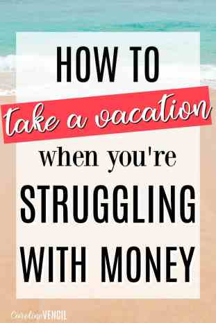 This is fantastic! She makes some great points about going on vacation when you're tight on funds. Vacations on a budget can really be amazing! How to save money on vacation tips and ideas are really great! How to take a vacation on a budget. The only way that you should take a vacation if you are struggling with money. Frugal vacations. Money smart ways to have a great vacation. How to start saving more a dream vacation.