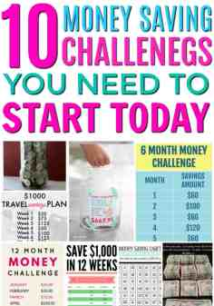 These are so great! This is exactly what I needed to get started saving money! The best money saving challenges. How to save money for beginners. Start saving money the easy way. 10 Money Saving Challenges You Need to Start Today!