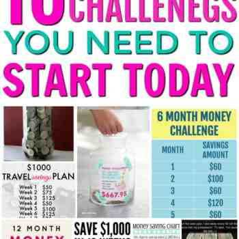 10 Money Saving Challenges to Start Today!