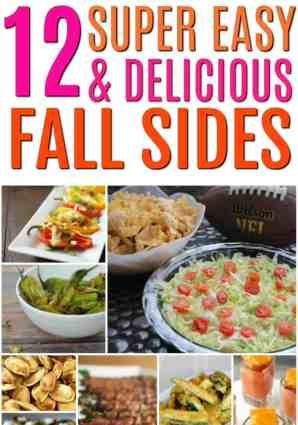 These are so amazing!! They are fast and easy dishes that you can make even if you suck at cooking. These fall sides are exactly what you need to bring to tailgates and football parties. You're going to love making them and they are going to disappear fast! 12 Easy and Delicious Fall Sides