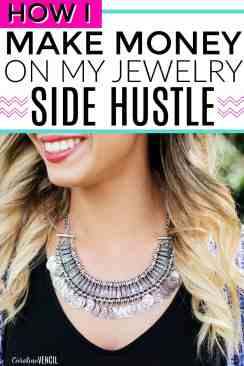 This is so great! I love side hustle success stories! This is really amazing. Making money from home doing something that you love. She makes more money than her husband without a degree. My Jewelry Side Hustle That Makes a Full-Time Income