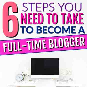 This is GREAT! She shows how to start a money making blog from home the easy way. If you want to know how to start a profitable blog fast, then you ned to check out the steps to take to become a full-time blogger! She's been blogging for a year and is making a full-time income! It's the best way to work from home and make a full-time income!