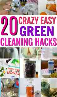 These are AMAZING!! All of the best green cleaning hacks and recipes! Everything that you need to make your own cleaning supplies. 20 Crazy Easy Green Cleaning Recipes. The best DIY homemade cleaning recipes.