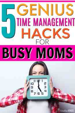 Oh my gosh I LOVE these!! If you're a busy mom, you need to check these out! Seriously, her tips are my favorites! She's a busy mom of 3 kids and she works full-time too, so she knows what she's talking about! You've got to check these time management hacks here. 5 Best Time Management Hacks for Busy Moms!