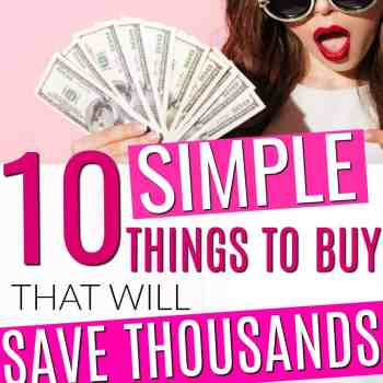 These are GREAT!! These 10 Purchases That Will Save You Thousands This Year are game changers for my budget!! I'm so glad I found these money saving tips! These simple things to buy to save money quickly are the best! You've got to try these for yourself! You'll definitely save tons of money!!