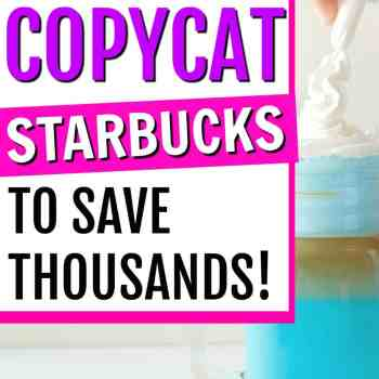 These are AMAZING!! What You Need to Make Starbucks Recipes at Home to Save Thousands of Dollars! You can make DIY Starbucks drinks at home. Making Starbucks recipes at home. How to make Starbucks at home. DIY Starbucks drinks. Starbucks copycat recipe drinks. Easy ways to save money on Starbucks. #Starbucks #savemoney #copycatStarbucks