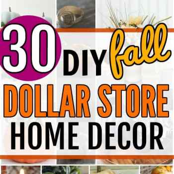 Dollar Store Fall Decor Ideas. Fabulous DIY Fall Farmhouse Dollar Store Hacks are right here for you to enjoy and get a head start on Fall Decorating on a Budget. #diy #diycrafts #fall #falldecor #falldecorations #fallcenterpieces #fallwreaths