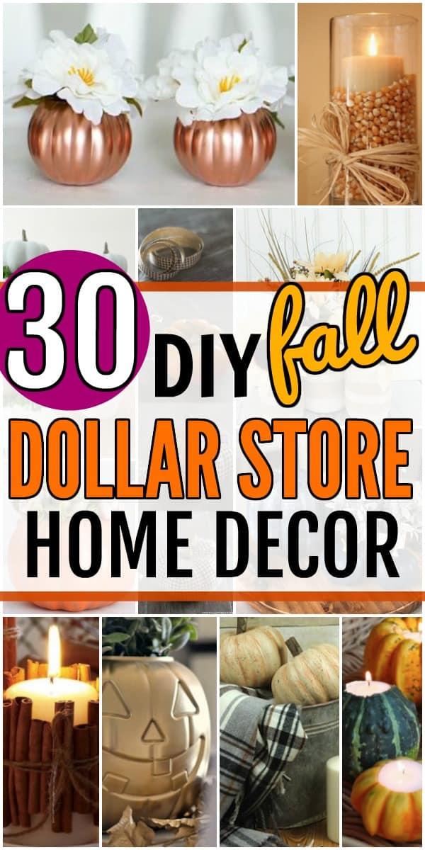 DIY Dollar Store Fall Decor \u2013 Cheap, Easy Fall Decorating Ideas