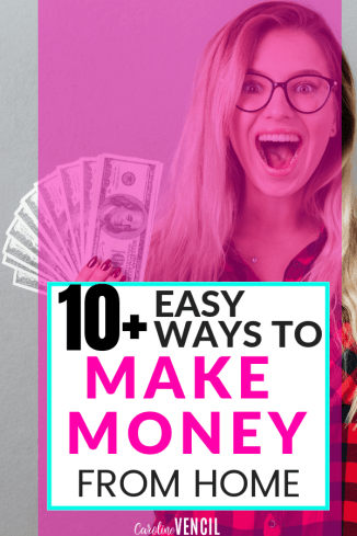 If you want to make money from home as a busy stay at home mom, then here are some amazing ideas for bringing in a few extra bucks each month. Some of these side hustles can turn into full time jobs working from home for yourself! Find out legit and real ways to earn money from home! #workathome #workfromhome #income #sidehustle #wahm